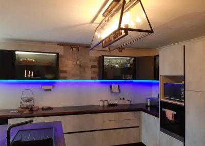 Kitchen Renovation - Handless Italian cabinetry and Dynamic Splashback (1)