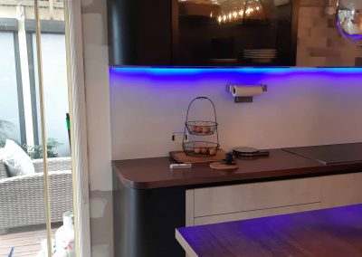 Kitchen Renovation - Handless Italian cabinetry and Dynamic Splashback (3)