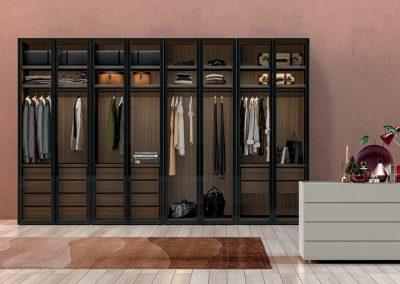 Glass doors Wardrobe