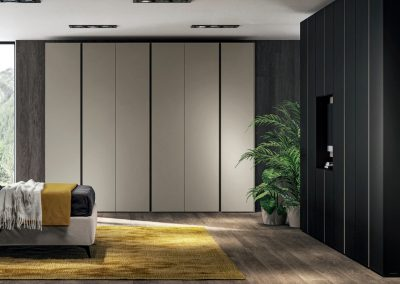 Hinged doors Wardrobe with Blend integrated handles -
