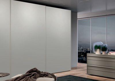 Sliding doors Wardrobe - glass matt colour